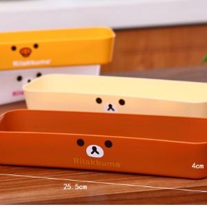 美麗大街【BFD04E1E2】日式輕鬆熊抽屜收納盒 餐具盒 中號