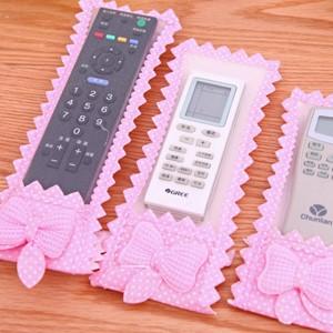 美麗大街【BFO05E3E14】粉色點點蝴蝶結遙控器套