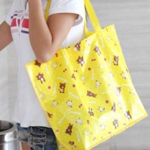 美麗大街【BFO18E5E25】簡約時尚防水覆膜購物袋按扣款