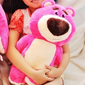 美麗大街【10306090202】12吋玩具總動員粉紅熊草莓暴力熊公仔抱枕玩偶