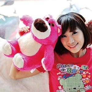 美麗大街【10306210601】12吋玩具總動員熊抱哥粉紅熊草莓暴力熊坐姿公仔玩偶