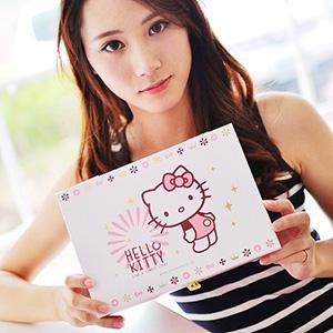 美麗大街【103080522】Hello Kitty小物飾品珠寶鏡子木製收納盒