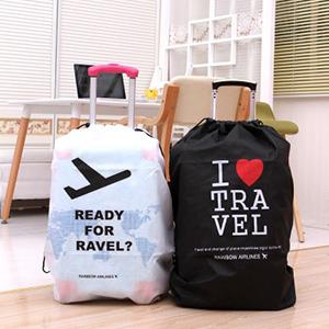 美麗大街【BFH17E2E6】簡約飛機旅行箱收納袋不露輪子行李箱束口袋