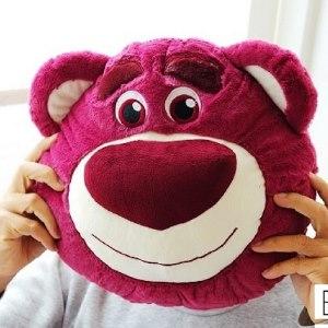 美麗大街【104012102】迪士尼玩具總動員草莓粉紅熊抱哥12吋大頭抱枕