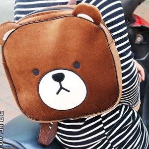 美麗大街【104012430】Tom Bear棕熊大頭方型後背包