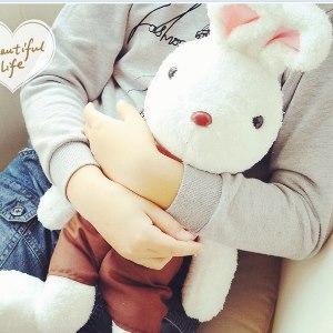 美麗大街【104020507】法國兔砂糖兔歡樂兔格紋上衣12吋娃娃玩偶公仔