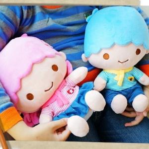 美麗大街【104020932】三麗鷗KIKILALA雙子星海軍條紋風坐姿12吋娃娃玩偶公仔
