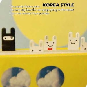 *~ 衫皇衫家~*【PSK38】 笑臉兔子可愛便條?/分頁貼(5入裝)