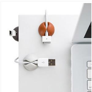 美麗大街【BFB04E4E17EK47】桌面固線夾 黑白咖啡(6個裝)