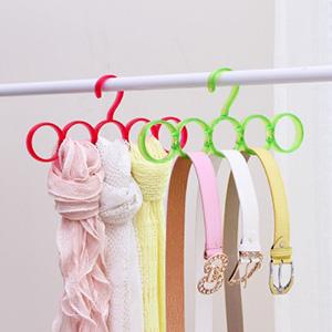 美麗大街【BFA10E5E21EL001】北歐風炫彩圍巾領帶腰帶掛架圈圈圍巾架