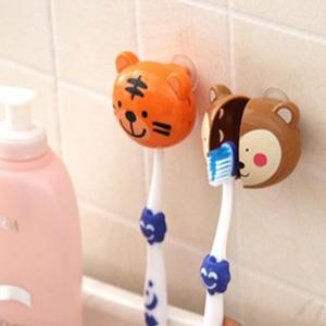 美麗大街【BFM07E4E17EK45】可愛動物大頭造型吸盤牙刷架
