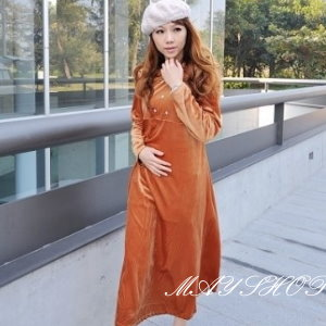 衫皇衫家【UF010431】甜美條紋幾何娃娃裝/大尺碼洋裝/孕婦裝/長袖洋裝(隨機出貨)