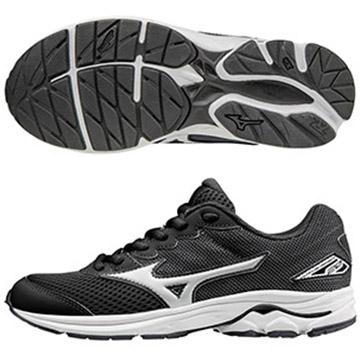 K1GC172501(黑X白)親子人氣共同鞋款 WAVE RIDER 20 Jr.童鞋 S【美津濃MIZUNO】