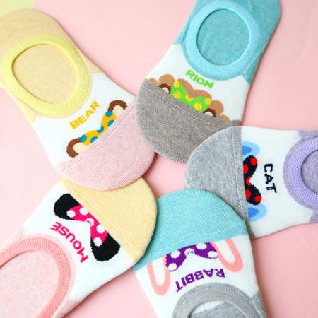 韓國 動物躲貓貓造型隱形襪 短襪 襪子 船型襪 帆船襪 造型襪 流行襪【N201670】