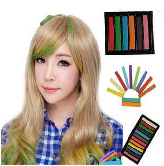 50%OFF【Y08054DN】日本原宿一次性染髮棒 染髮粉筆染髮蠟筆 染髮筆挑染頭髮24色入