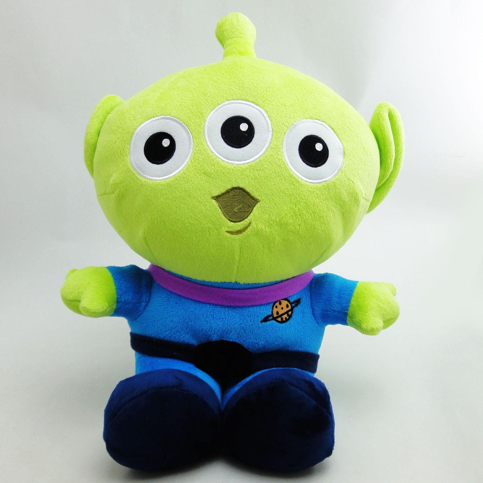 【UNIPRO】迪士尼正版 三眼怪 Alien 經典坐姿 絨毛玩偶 娃娃