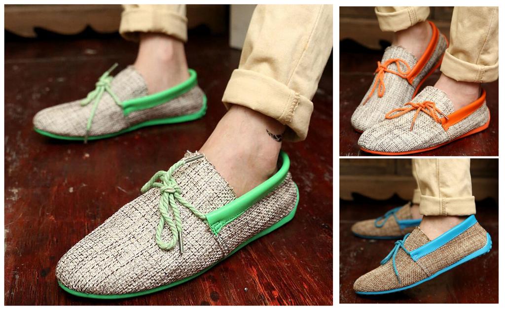 透氣編織豆豆鞋懶人鞋一腳蹬男鞋單鞋