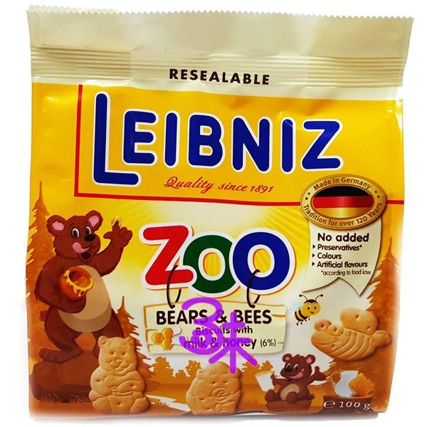 (德國) Bahlsen 百樂順 ZOO 蜂蜜牛奶餅 1包 100 公克 特價 74 元【4017100107412  】(Leibniz ZOO)