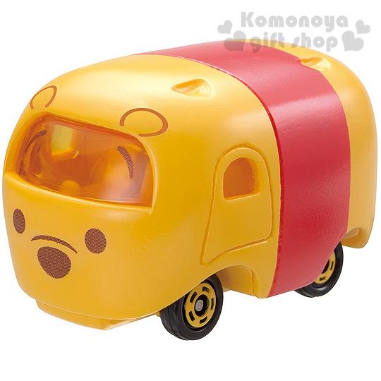 〔小禮堂〕迪士尼 TSUM TSUM 小熊維尼 TOMICA合金小汽車《橘黃.Q版》經典造型值得收藏
