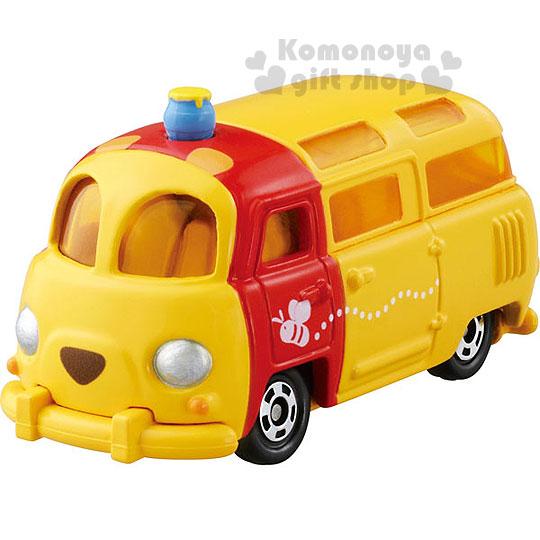 〔小禮堂〕小熊維尼 TOMICA小汽車《黃.小巴士》DM-18經典造型值得收藏
