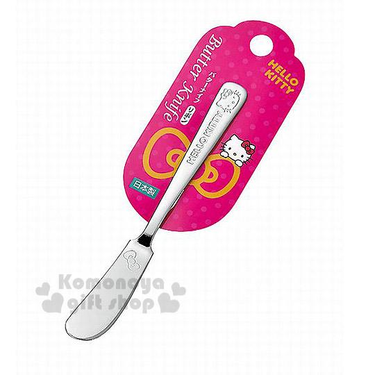 〔小禮堂〕Hello Kitty 日製不鏽鋼奶油刀《銀.大臉》可愛又實用