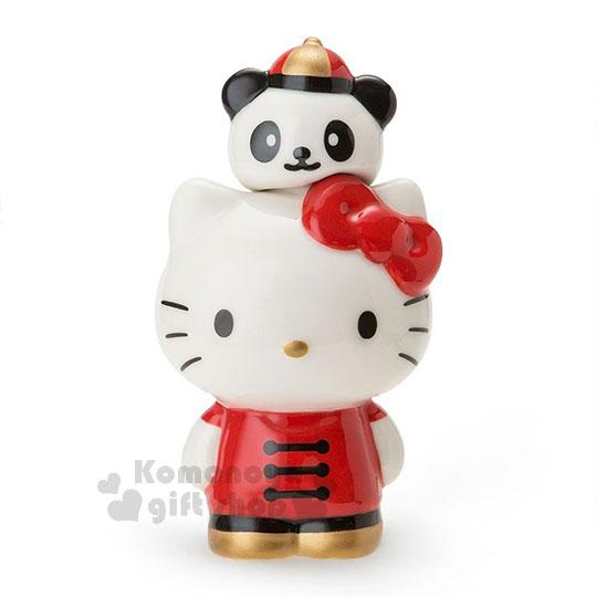 〔小礼堂〕hello kitty 造型陶瓷调味罐《白红》盐罐.图片