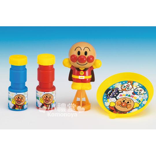 〔小禮堂嬰幼館〕麵包超人 吹泡泡玩具組《橘黃.手壓式.站姿》適合3歲以上兒童