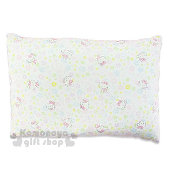 〔小禮堂嬰幼館〕台灣 佳美 Hello Kitty 寶寶枕頭《白.花花.動作.滿版》中凹型