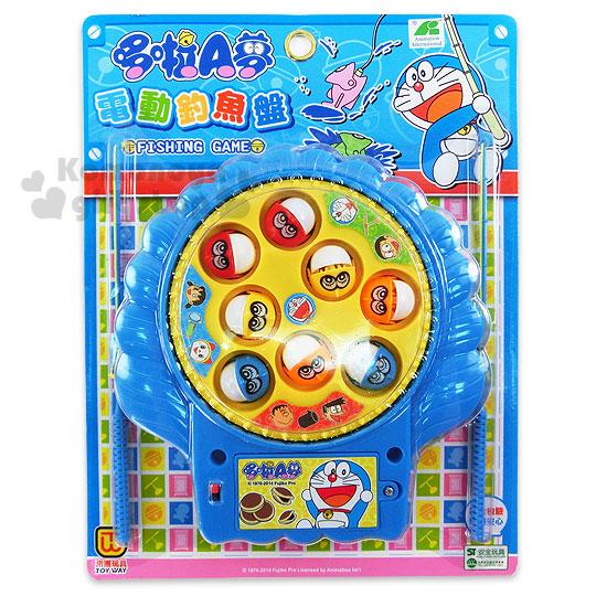 〔小禮堂嬰幼館〕哆啦A夢 電動釣魚玩具組《藍.銅鑼燒》增加親子互動