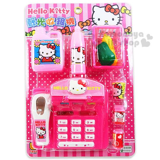〔小禮堂嬰幼館〕Hello Kitty 收銀機玩具組《粉盒裝.點點》增添親子間的親密度
