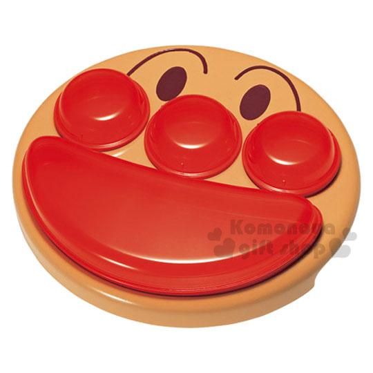 〔小禮堂〕麵包超人 造型四格餐盤《紅.大臉》小朋友吃飯時的好幫手