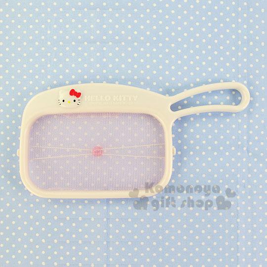 〔小禮堂〕Hello Kitty 過濾撈網《白.大臉》生活便利小物