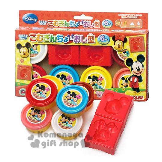 〔小禮堂嬰幼館〕迪士尼 米奇米妮 黏土玩具模具組《6色黏土.大臉模具》