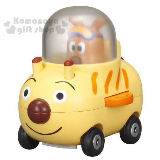 〔小禮堂嬰幼館〕麵包超人 起司狗 GOGO迷你造型玩具車《黃.坐姿》增添親子間的親密度