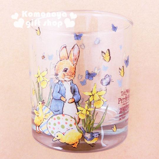 〔小禮堂〕彼得兔 玻璃威士忌杯《小.透明.小雞.兔子.245ml》群蝶飛舞系列