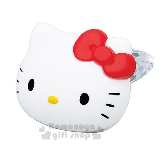 〔小禮堂〕Hello Kitty 車用造型芳香劑《S小.頭型.沐浴香》適裝於車用冷氣出風口上