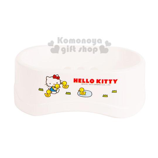 〔小禮堂韓國館〕Hello Kitty 香皂盤《白.多鴨子.小草》輕鬆美化室內空間