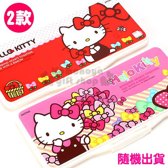 〔小禮堂韓國館〕Hello Kitty 水彩調色盤《2款.隨機出貨.紅/粉.多蝴蝶結》附圓型海綿