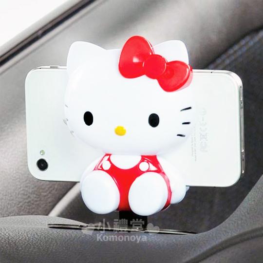 〔小禮堂〕Hello Kitty 汽車手機座《坐姿KT》也可放衛星導航