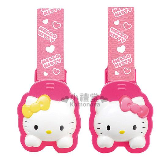 〔小禮堂〕Hello Kitty 棉被夾《2入.桃紅.大臉》娃娃車.嬰兒床皆適用