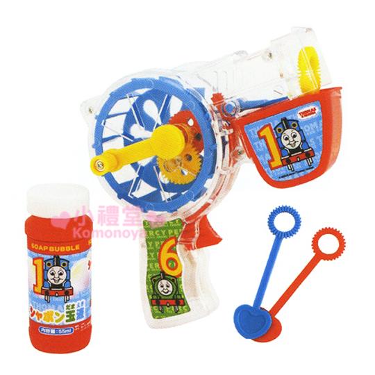 〔小禮堂〕 Thomas湯瑪士 造型泡泡槍玩具《藍.滾輪》適合3歲以上孩童