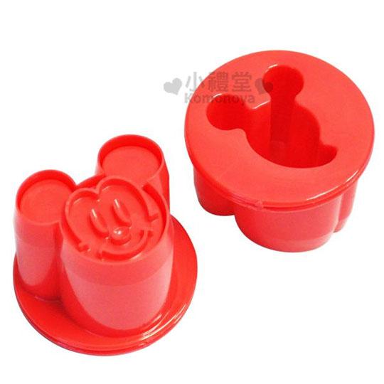 〔小禮堂〕迪士尼 米奇 蔬果小壓模《紅.大臉.2入》創意便當輕鬆做
