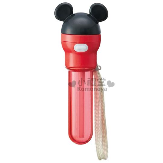 〔小禮堂〕迪士尼 米奇 攜帶型吸管瓶蓋《紅.米奇造型》350.500ml寶特瓶專用