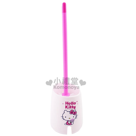 〔小禮堂韓國館〕Hello Kitty 馬桶刷《白.棒棒糖》輕鬆美化室內空間