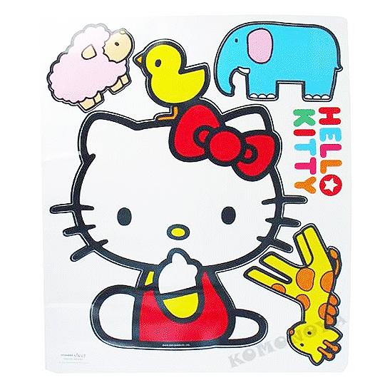 〔小禮堂〕Hello Kitty 大壁貼《動物》韓系商品