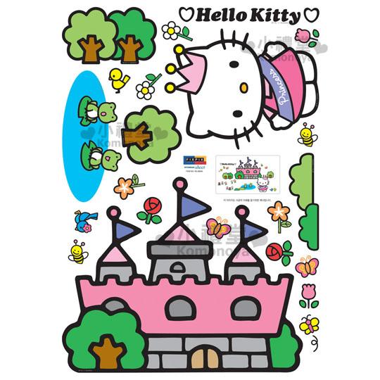 〔小禮堂〕Hello Kitty 創意壁貼《公主&城堡》隨心創造夢幻空間