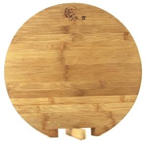 【珍昕】 仙德曼 尺一碳化竹柳葉根圓砧板 / 柳葉根砧板