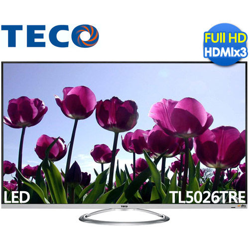 ★領券94折現折 TECO東元 TL5026TRE 50吋 FHD LED液晶顯示器+視訊盒