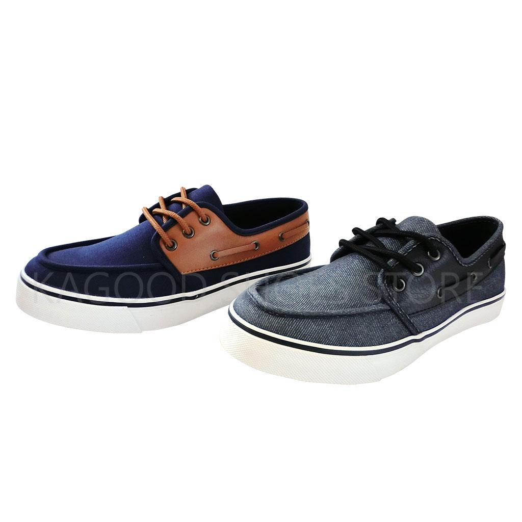 Arriba AB7049 帆船鞋 休閒鞋  牛仔黑色 /  藍色款 男鞋