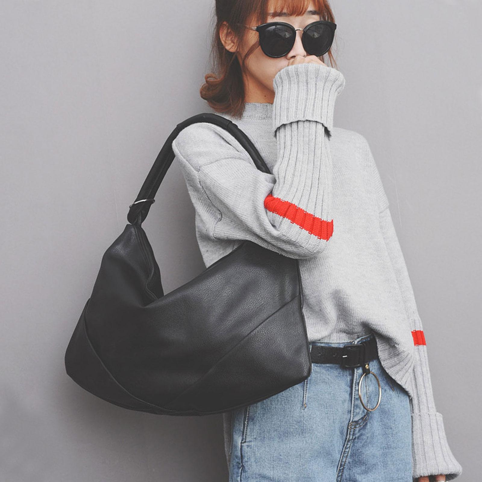 手提包 韓國時尚皮革水餃包肩背包【O3226】☆雙兒網☆